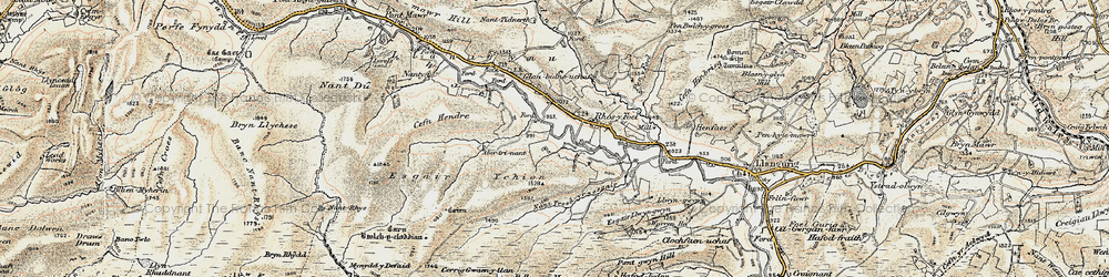 Old map of Wye Valley in 1901-1903