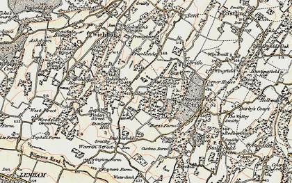 Old map of Wyebanks in 1897-1898