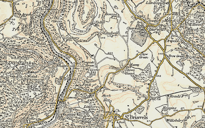 Old map of Wyegate Hill in 1899-1900