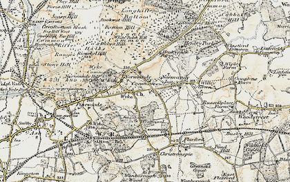 Old map of Wyke in 1898-1909