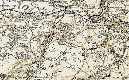 Old map of Wyke in 1902