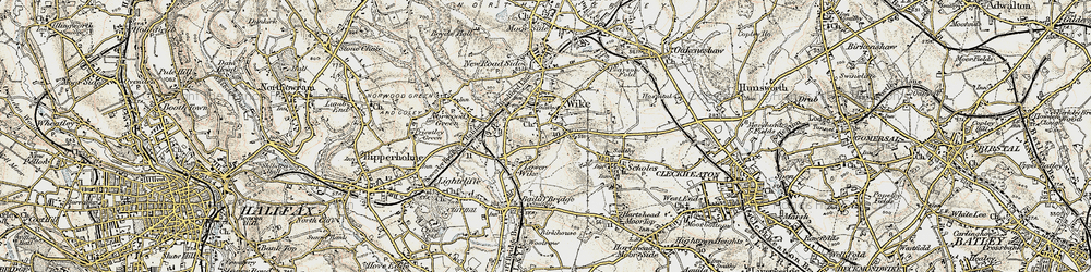 Old map of Wyke in 1903