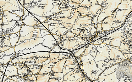 Old map of Wyke Champflower in 1899