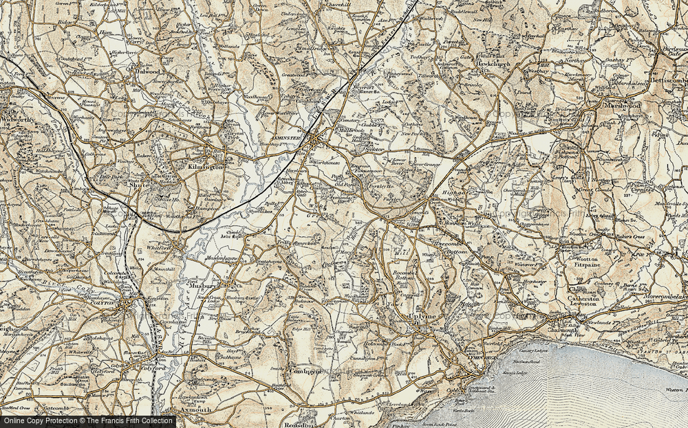 Old Map of Wyke Green, 1898-1899 in 1898-1899