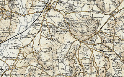 Old map of Wyke Green in 1898-1899