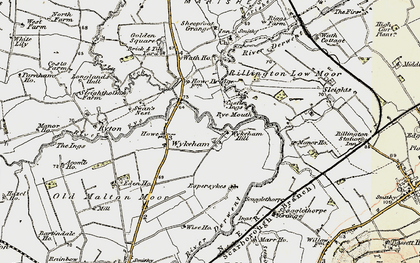 Old map of Wykeham in 1903-1904