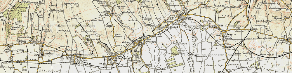 Old map of Wykeham Abbey in 1903-1904