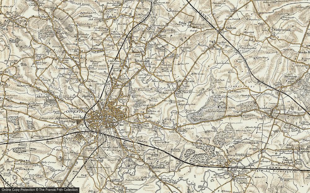 Old Map of Wyken, 1901-1902 in 1901-1902