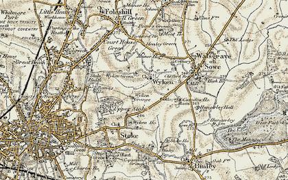 Old map of Wyken in 1901-1902