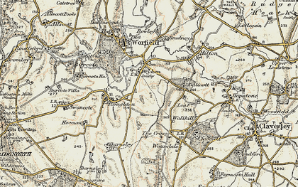 Old map of Wyken in 1902