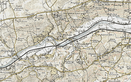 Old map of Wylam in 1901-1904
