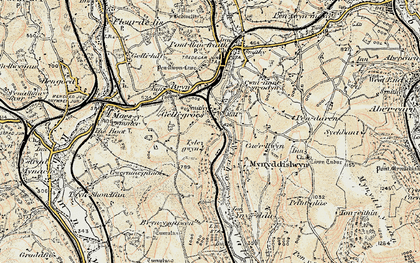 Old map of Wyllie in 1899-1900
