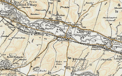 Old map of Bake, The in 1897-1899