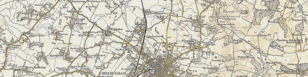 Old map of Wymans Brook in 1898-1900