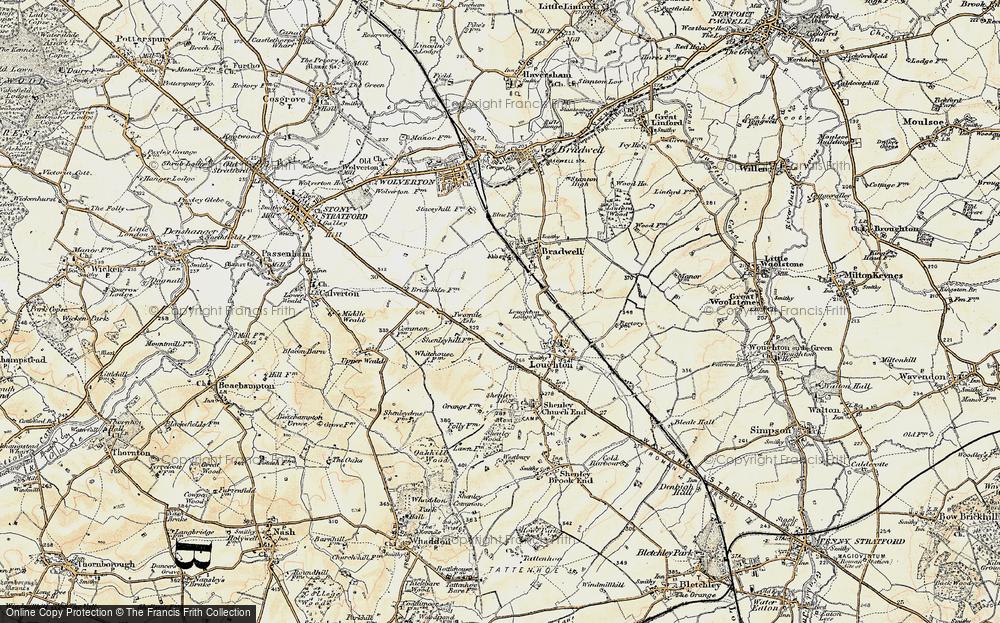 Old Map of Wymbush, 1898-1901 in 1898-1901