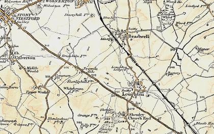 Old map of Wymbush in 1898-1901