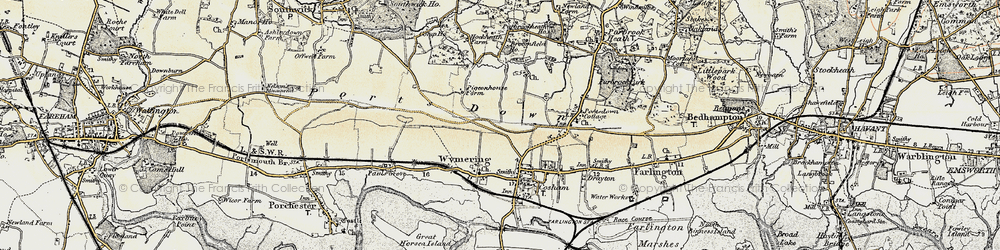 Old map of Wymering in 1897-1899