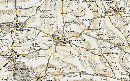 Old map of Wymeswold in 1902-1903