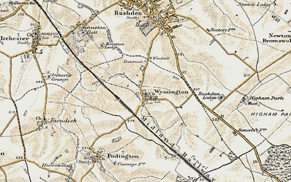 Old map of Wymington in 1898-1901