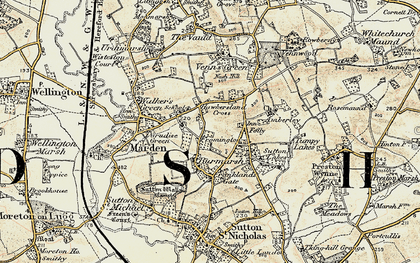 Old map of Wymm, The in 1899-1901