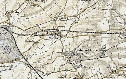 Old map of Wymondham in 1901-1903