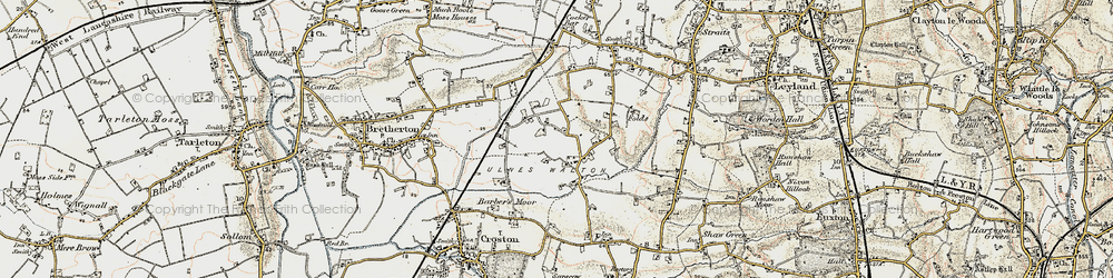 Old map of Wymott in 1903