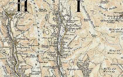 Old map of Wyndham in 1899-1900