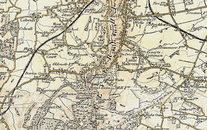 Old map of Wynds Point in 1899-1901