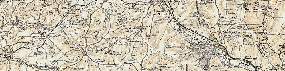 Old map of Wynford Ho in 1899