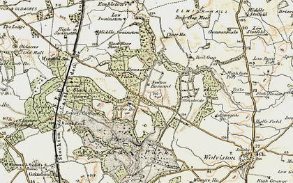 Old map of Whinny Moor Plantn in 1903-1904