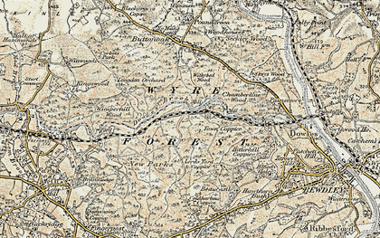 Old map of Wyre Forest in 1901-1902