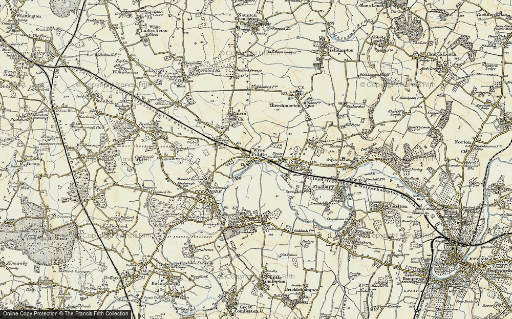 Old Map of Wyre Piddle, 1899-1901 in 1899-1901