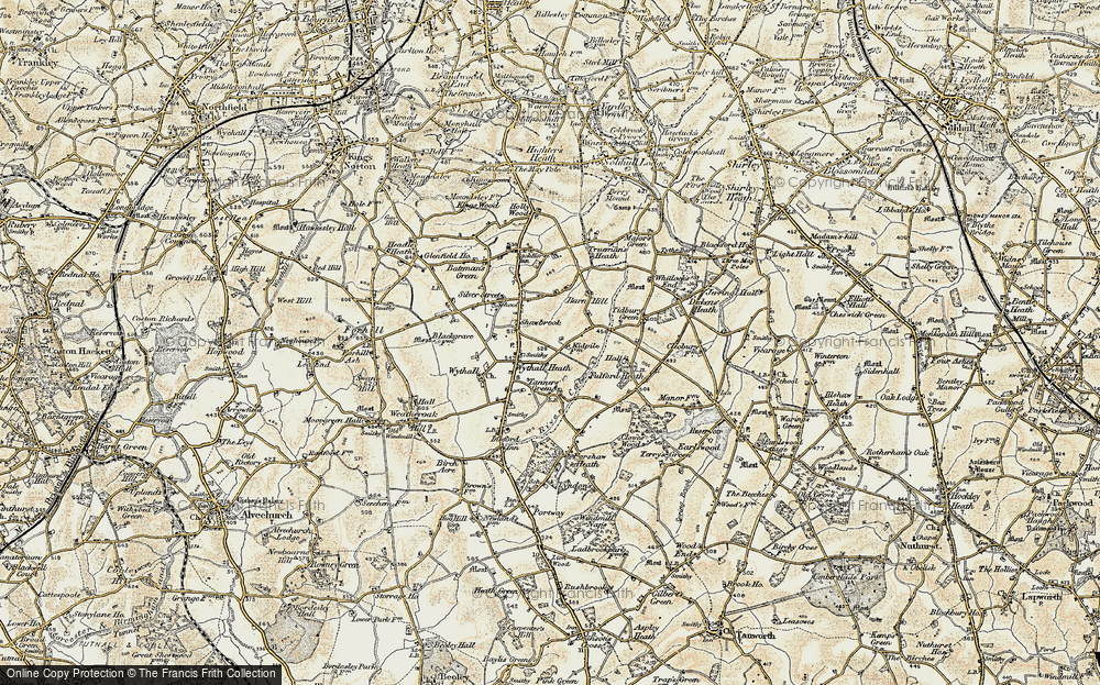Old Map of Wythall, 1901-1902 in 1901-1902