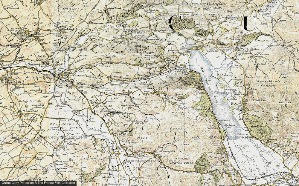 Old Map of Historic Map covering Abbey in 1901-1904