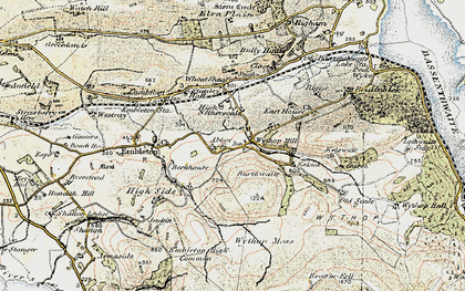Old map of Wythop Moss in 1901-1904