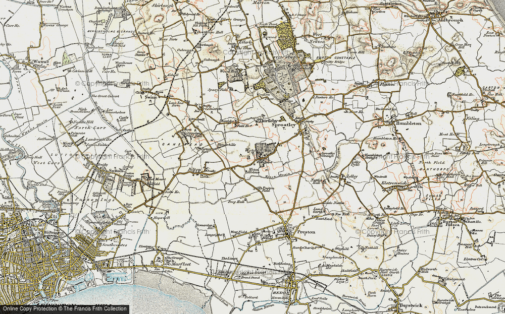Old Map of Wyton, 1903-1908 in 1903-1908