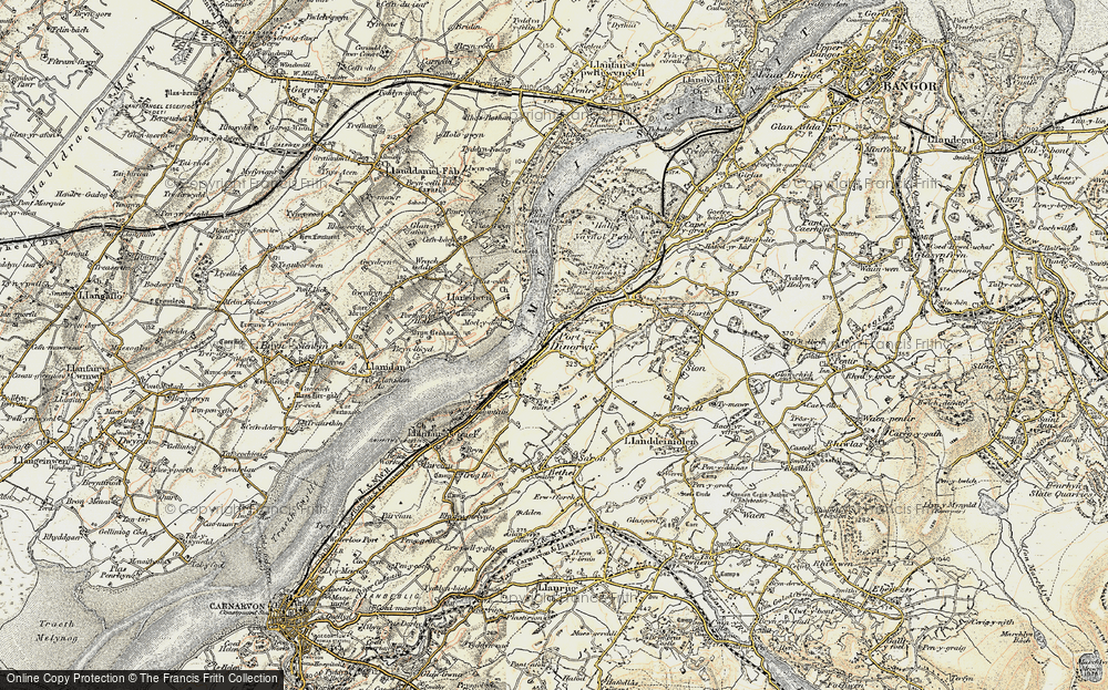 Old Map of Y Felinheli, 1903-1910 in 1903-1910