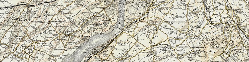 Old map of Y Felinheli in 1903-1910