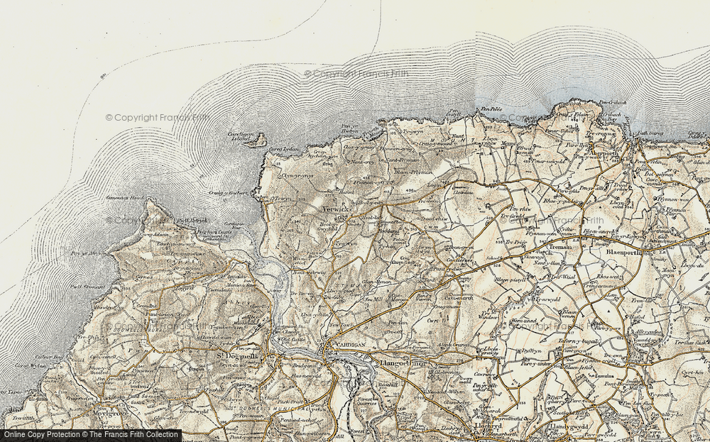 Old Map of Y Ferwig, 1901 in 1901