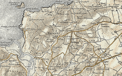 Old map of Y Ferwig in 1901