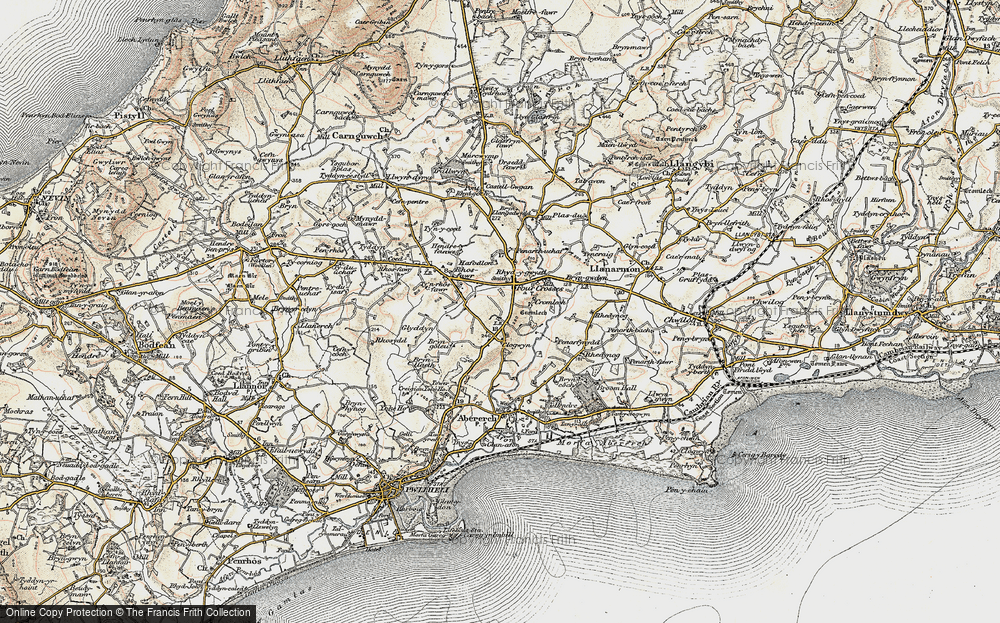 Old Map of Y Ffôr, 1903 in 1903