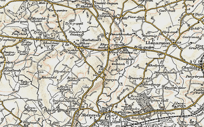 Old map of Afon Erch in 1903