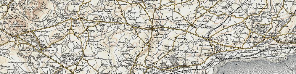 Old map of Y Ffôr in 1903