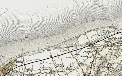Old map of y-Ffrith in 1902-1903