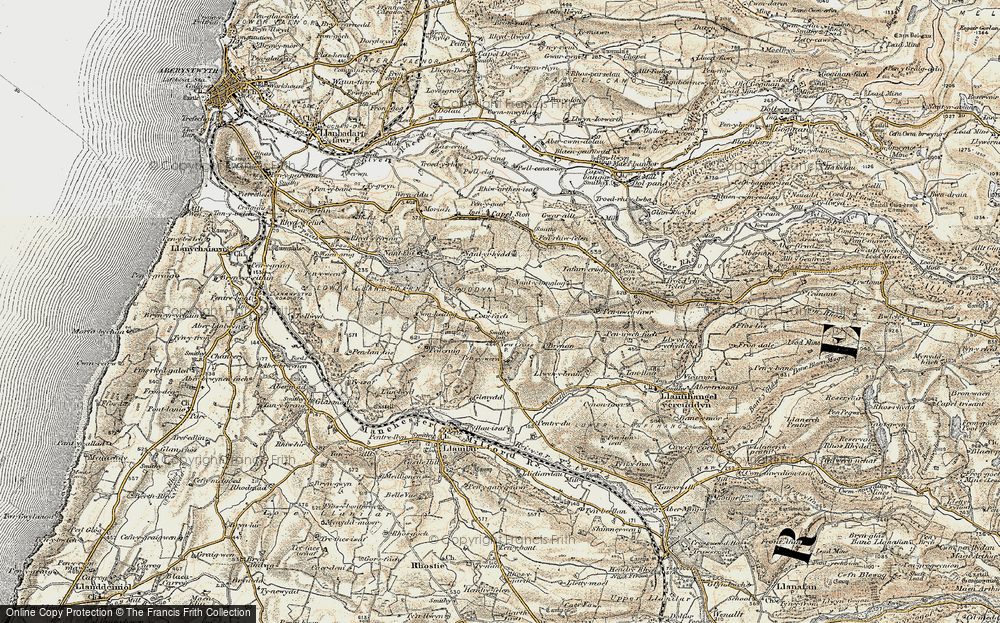 Old Map of Historic Map covering Gilfach goch in 1901-1903