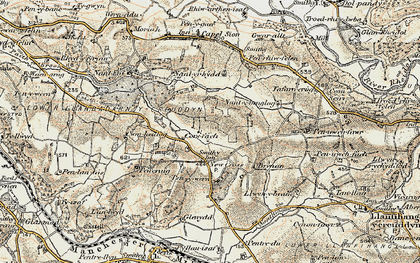 Old map of Gilfach goch in 1901-1903