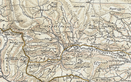 Old map of Y Gribyn in 1902-1903