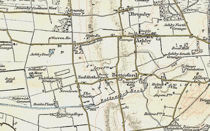 Old map of Yaddlethorpe in 1903