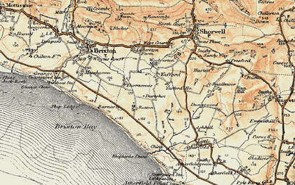 Old map of Yafford Ho in 1899-1909