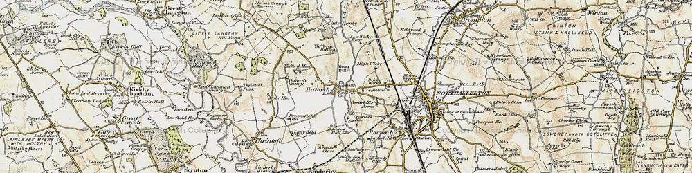 Old map of Yafforth Moor Ho in 1903-1904
